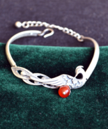 peacock bracelet, silver bracelet, chain bracelet, animal lovers bracele... - $65.99