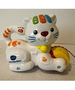 VTech Pull and Sing Cat Kitten Pull Toy Alphabet Letters Legs Move Sound... - $12.99