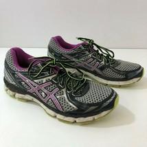 ASICS GT 2000 V2 Purple Green T3P8N Women's Running Shoes Sz 9.5 M-READ ... - £13.39 GBP