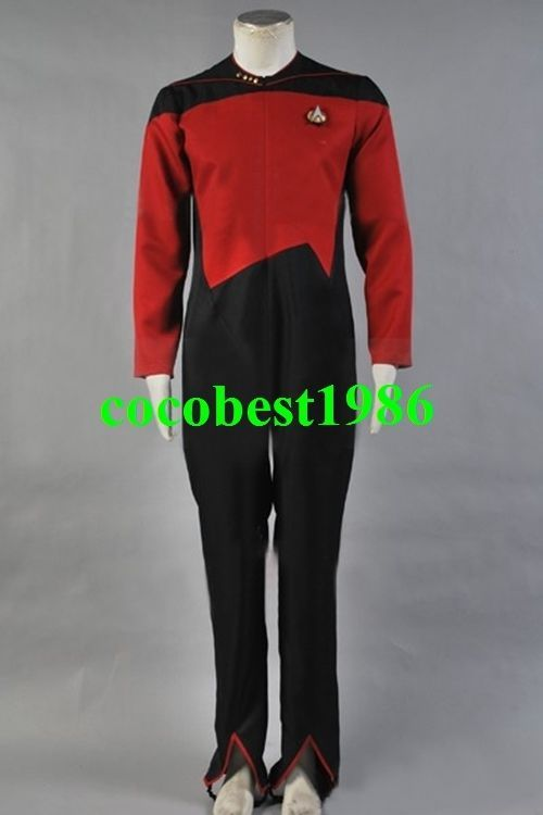 Star Trek Command Uniform Red Jumpsuit Costume all size Jumpsuit