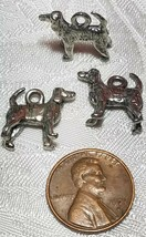 STANDING DOG FINE PEWTER PENDANT CHARM - 5x14.5x14mm image 2