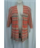 Style & Co. Sweater Woman Sz 1X Cool Melon Multi Knit 3/4 Sleeve Cardigan   - €35,56 EUR