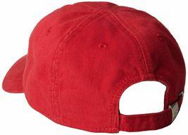 Lacoste Men's Classic Gabardine  Cotton Big Croc Logo Adjustable Red Hat Cap image 3