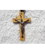 col-p Super Holy Mix Beads sanctified Rosario Natural Wood Chain Jesus C... - $28.91