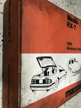 1989 Mazda RX-7 RX7 Service Repair Workshop Shop Manual OEM Factory Worn  - $79.15