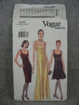Misses 8-12 Dress 3 lengths evening mid knee or below knee Vogue 9595  U... - $12.00
