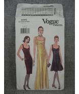 Misses 8-12 Dress 3 lengths evening mid knee or below knee Vogue 9595  U... - $12.00