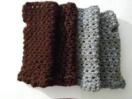 Handmade Crocheted Womens  Fingerless Gloves Mittens One Size set of 2 - $25.00