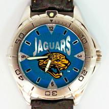Jacksonville Jaguars NFL, Fossil Unworn Mans Vintage 1998 Leather Band Watch $79 - $78.06