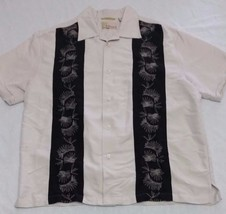 Cubavera Shirt Sz Medium Lounge Beige Laid Back Short Sleeve - $21.78