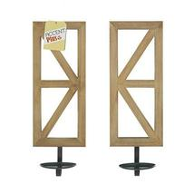 """Accent Plus Mirrored Wood Candle Sconce Set 14.5"""" Tall - $77.05"""