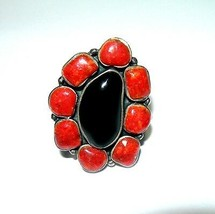 Large Studio Vintage Sterling Silver Estate Jewelry Black Onyx Ring - $125.00