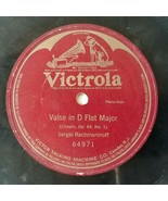 Chopin, Op.64, No 1 Valse in D Flat Major Victrola 78 1 Sided Rachmaninoff - $42.75