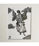 ANGEL in greyscale  - $40.00