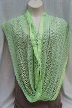 Collection Eighteen Infinity Loop Scarf Shock Green Chiffon Lace Cowl Scarf  image 3