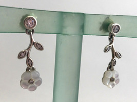 Authentic Pandora Luminous Florals Drop / Dangle Earrings, 290699MOP New - $72.19