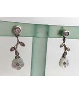 Authentic Pandora Luminous Florals Drop / Dangle Earrings, 290699MOP New - $72.19