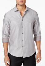 Alfani Men's Chevron Jacquard Shirt,, April Showers, Size S, MSRP $80 - $34.64