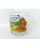 Vintage McDonald's Garfield Glass Cup Mug 1978 Odie Jim Davis - $11.13