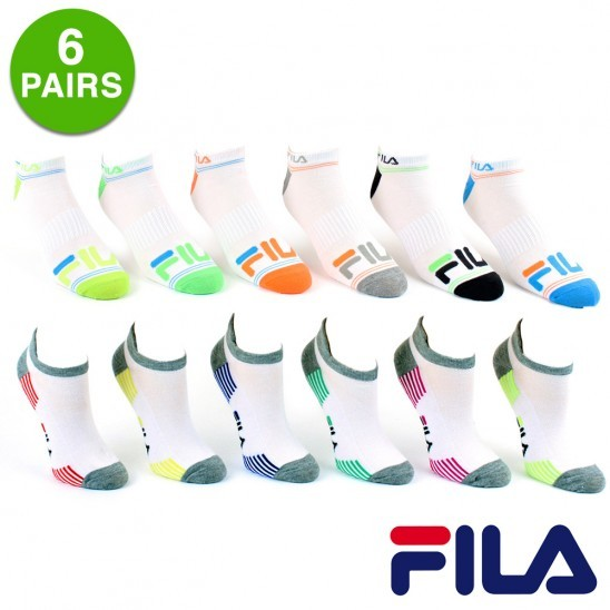 6 Pairs: Fila Shock Athletic Socks