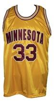 Eric Harris #33 Custom College Basketball Jersey New Sewn Yellow Any Size image 4