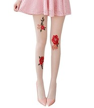 Bright RED Roses Ultra-thin Sexy Stockings Tights image 2