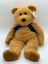 """TY Beanie Buddies Fuzz Plush Bear Brown Stuffed Animal 1999 Soft Floppy Toy 13"""" - $9.89"""