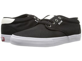 Vans Chima ESTATE Pro WAXED CANVAS BLACK WHITE Men's Skate Shoes SZ 6.5 NEW - $50.45