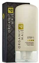 Organic Male OM4 Normal STEP 1: Microblended Bionutrient Face Wash - 5 oz image 1