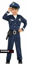 Muscle Cop Child Police Officer Navy Blue Halloween Padded Costume Sz Small 141 - $24.74