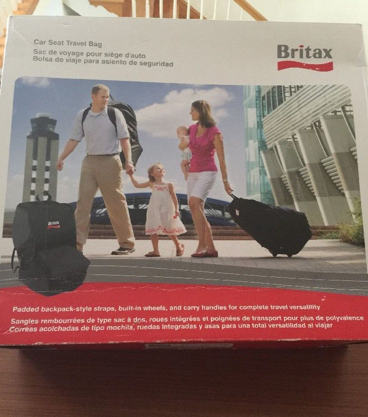 Black Britax Car Seat Travel Bag
