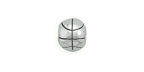 Primary image for Basketball Charm Bead Genuine Solid 925 Sterling Silver NEW