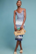 NWT ANTHROPOLOGIE TILED PRINT KNIT SLIP DRESS by FARM RIO L - $94.99