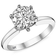2.50CT Women's Solid Round Brilliant 6 Prong Solitaire Engagement Ring 1... - $286.03