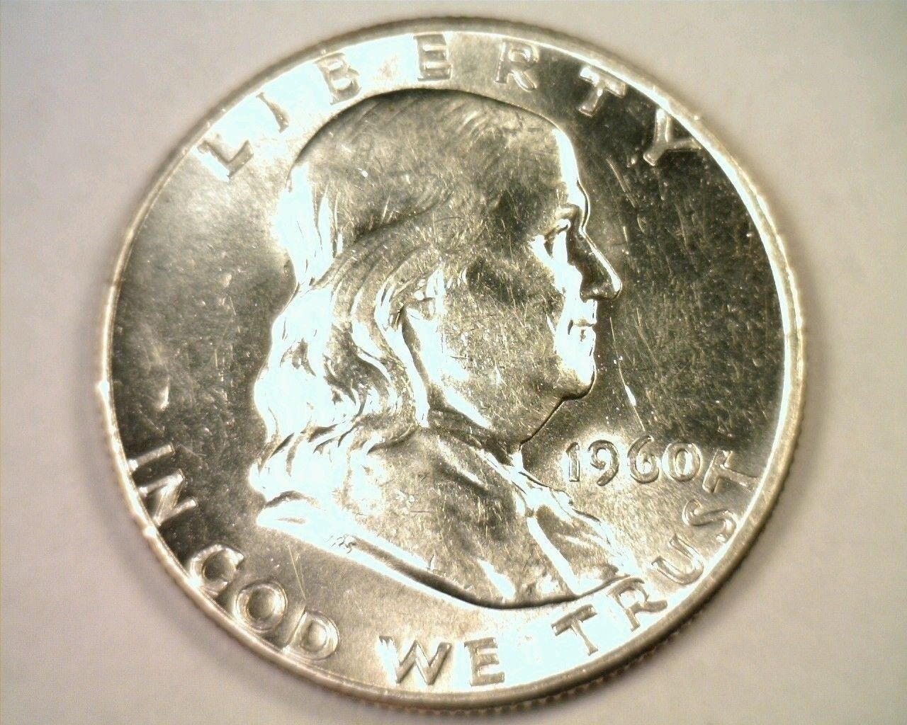 Primary image for 1960 FRANKLIN HALF DOLLAR UNCIRCULATED UNC. NICE ORIGINAL COIN FROM BOBS COINS