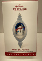 2015 Hallmark KOC Club Member  Friend Of A Feather Christmas Snowman Orn... - $12.82