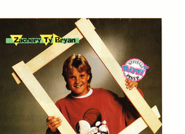 Zachery Ty Bryan teen magazine pinup clipping picture frame sweat shirt Bop