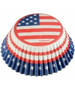 Red White Blue Stars 75 Ct Baking Cups Cupcake Liners - $4.64