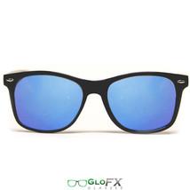 GloFX Diffraction Glasses – Black – Blue Mirror Dual Panel EDM Festival - $17.99