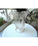 EAPG McKee Glass Clear Jubilee Pattern Antique Glass Pitcher 1850 - 1899 - $24.75