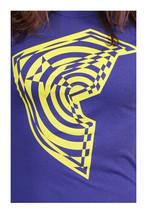 Famous Stars & Straps Donna Adolescenti Viola Giallo Contorto Fare. T-Shirt Nwt