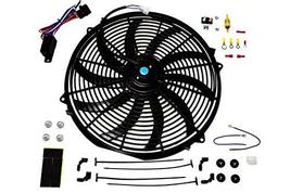 """A-Team Performance 16"""" Electric Radiator Cooling Fan Wide S-Curved 10 Blades The image 2"""