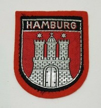 HAMBURG Germany City Herald Coat of Arms Travel Souvenir Felt Patch - $6.99