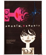 Movie Poster PLEASE DONT WAKE ME UP 1962 Jaroslav Fiser Graphic Designer - $112.00
