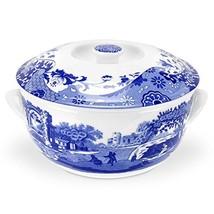 Spode Blue Italian Round Covered Deep Dish - $97.97