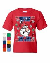 Santa is My Ho Ho Homie Youth T-Shirt Fun Ugly Sweater Merry Christmas Kids Tee - £11.09 GBP+