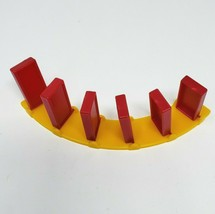 VINTAGE PRESSMAN DOMINO RALLY DOMINOES RED & YELLOW CURVED TRACK PIECES ... - $7.34