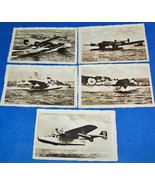 5 ORIGINAL WW2 GERMAN PROPAGANDA PHOTOS: LARGE KRIEGSMARINE SEA PLANES - $25.00