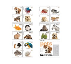20 Forever USPS stamps Pets celebrate animals in our lives that bring jo... - $24.95