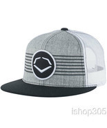 Evoshield Throwback Patch Snapback Hat Baseball Cap Grey/White 1037330 - £22.26 GBP